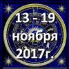 Гороскоп азарта на неделю - с 13 по 19 ноября 2017
